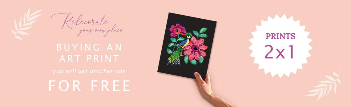 2X1 Promotion in art prints