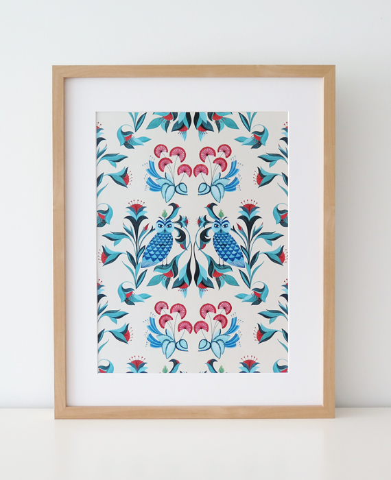 Art Print Blue Birds