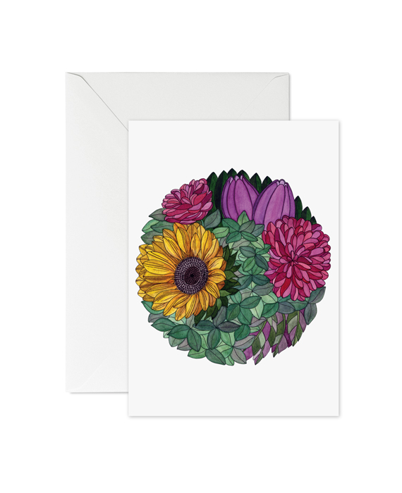Greeting Card Flowers No4