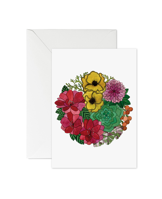Greeting Card Flowers No3