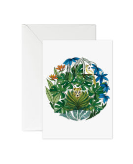 Greeting Card Tropical Garden